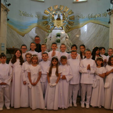 Pielgrzymka Dzieci pierwszokomunijnych do Sanktuarium Matki Bożej Saletyńskiej w Dębowcu – 01.06.2019 r.