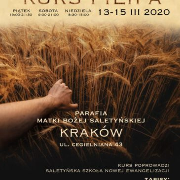 Zaproszenie na KURS FILIPA 13-15.03.2020 r.