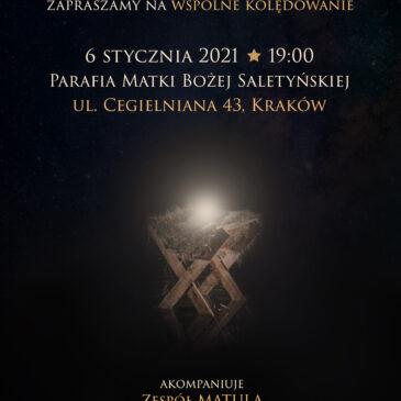 Zapraszamy na Kolędowanie z Zespołem MATULA – 6.01.2021 r, godz. 19:00