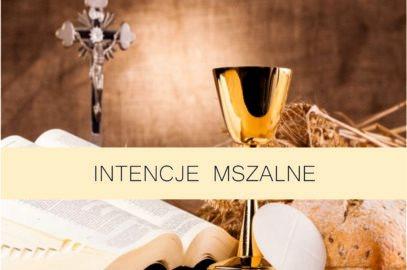 Intencje Mszalne 27 IX – 3 X 2021 r.